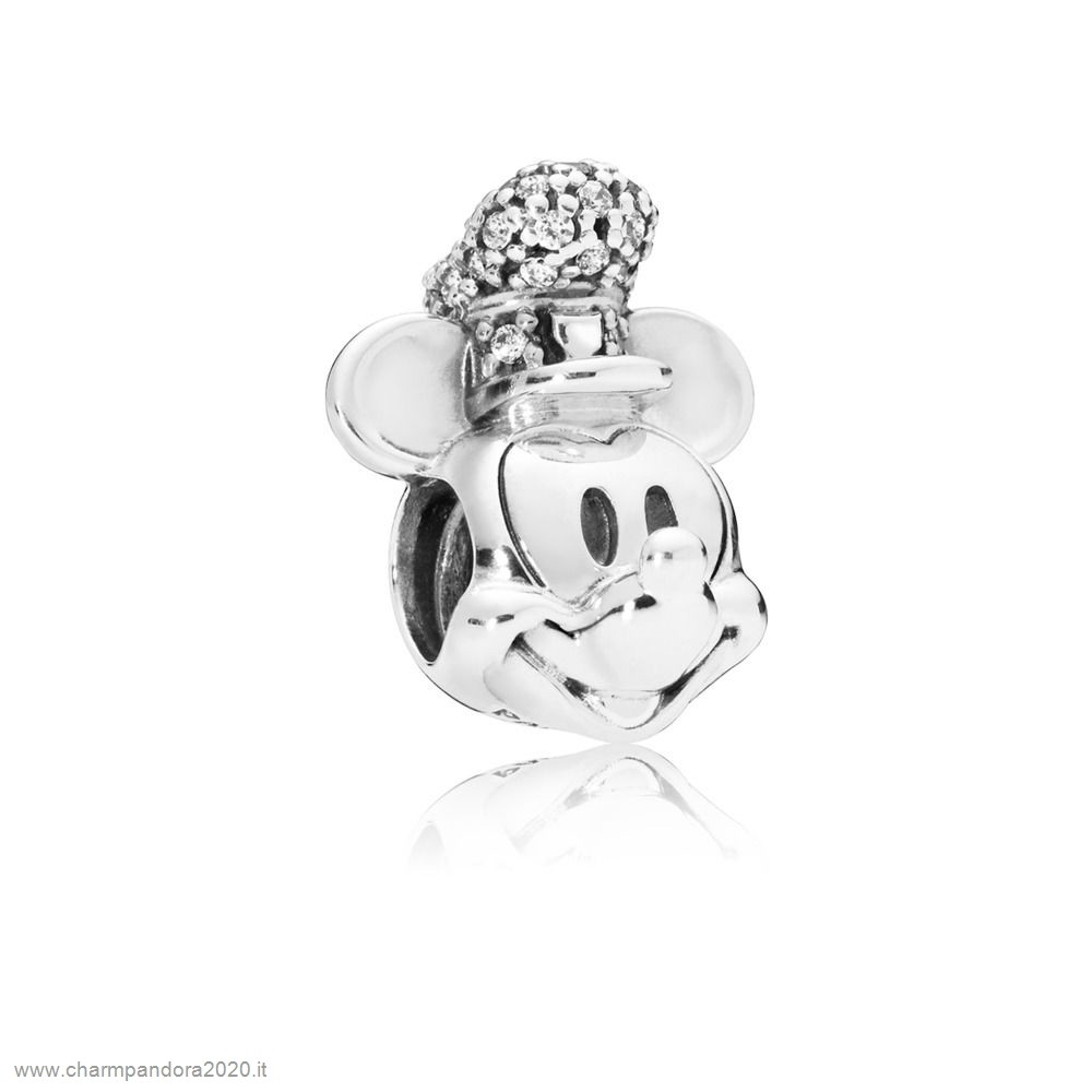 Gioielli Pandora Promozione Charm Disney, Portrait De Mickey Version Steamboat Willie Scintillant