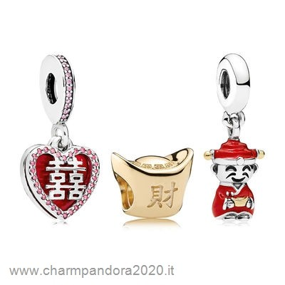 Gioielli Pandora Promozione Happiness Fortune And Luck Charm Pack